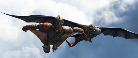 Hiccup tries out his squirrel suit from the Dreamworks Pictures film How to Train Your Dragon 2