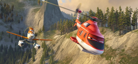 Dusty and Blade from the Disney film Planes Fire and Rescue