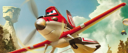 Dusty and his new paint job from the Disney film Planes Fire and Rescue
