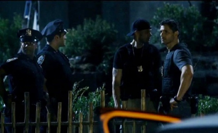 Cops in the zoo from the Sony Pictures film Deliver Us From Evil