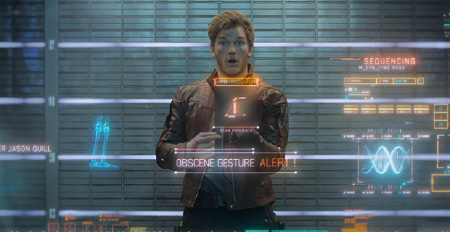 Peter Quill is irreverent from the Marvel Studios film Guardians of the Galaxy