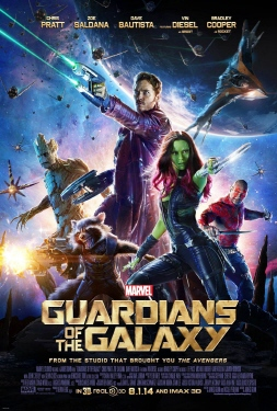 poster from the Marvel Studios film Guardians of the Galaxy