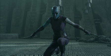 Karen Gillan as Nebula from the Marvel Studios film Guardians of the Galaxy