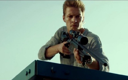 Luke Bracey as David Mason the sniper from the Relativity Media film November Man