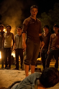 Gally tries to turn the boys against Thomas from the 20th Century Fox film Maze Runner