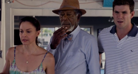 Ashley Judd, Morgan Freeman, and Austen Stowell from the Warner Bros Pictures film Dolphin Tale 2