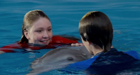 Cozi Zuehlsdorff and Nathan Gamble from the Warner Bros Pictures film Dolphin Tale 2