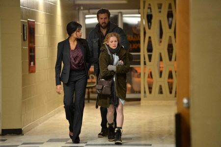 Police talk to parents from the E1 Entertainment film The Captive