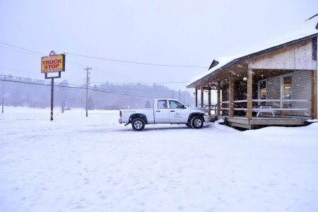 truck stop from the E1 Entertainment film The Captive