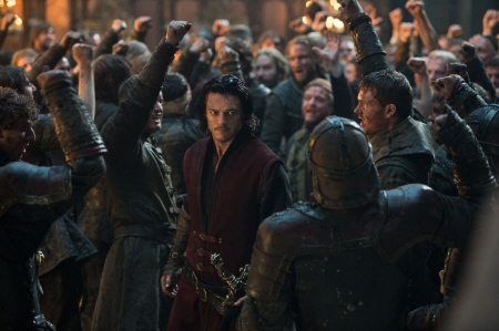 Vlad leads his army from the Legendary Pictures film Dracula Untold