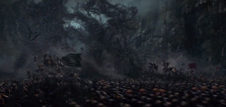 Cloud of bats vs Turks round 3 from the Legendary Pictures film Dracula Untold