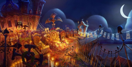 graveyard from the 20th Century Fox film Book of Life