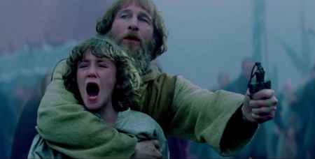 Art Parkinson and Paul Kaye from the Legendary Pictures film Dracula Untold