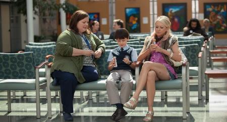 Melissa Mc Carthy, Jaeden Lieberher, and Naomi Watts from the Weinstein Company film St. Vincent