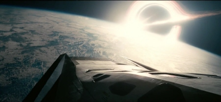 Ranger approaches wave world from the Legendary Pictures film Interstellar