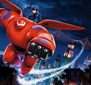 Hiro and Baymax from the Disney film Big Hero 6