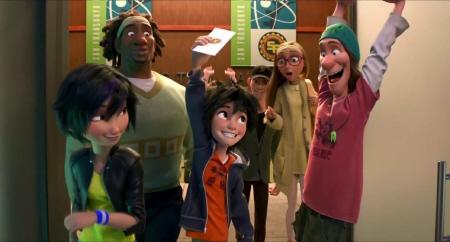 Hiro gets into university from the Disney film Big Hero