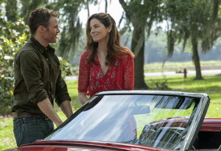 James Marsden and Michelle Monaghan from the Relativity Media film The Best of Me